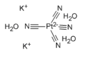 Potassium tetracyanoplatinate(II) trihydrate Chemical Structure