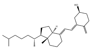 5,6-trans-Vitamin D3 Chemical Structure