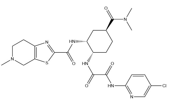 Edoxaban Chemical Structure