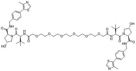 Homo-PROTAC pVHL30 degrader 1 Chemical Structure