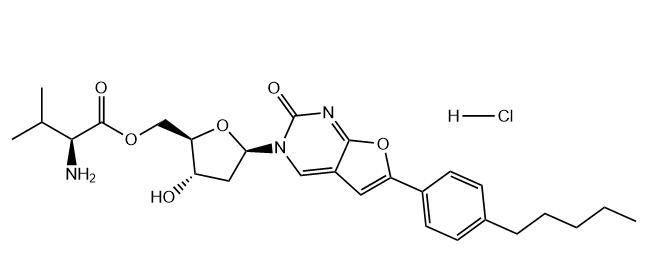 Valnivudine hydrochloride Chemical Structure