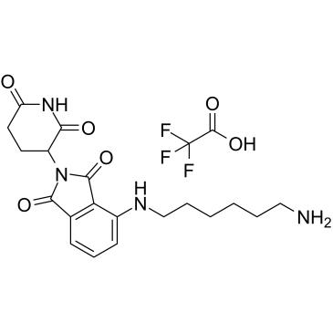 Thalidomide-NH-C6-NH2 TFA Chemical Structure