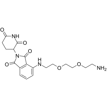 Thalidomide-NH-PEG2-C2-NH2 Chemical Structure
