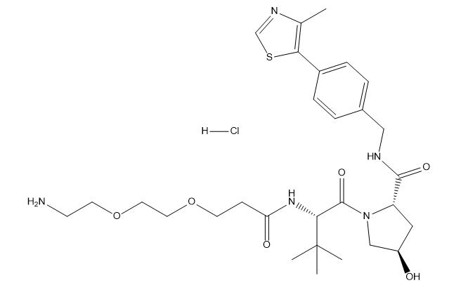 (S,R,S)-AHPC-CO-PEG2-C2-amine HCl Chemical Structure