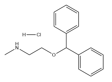 Diphenhydramine Impurity A HCl Chemical Structure