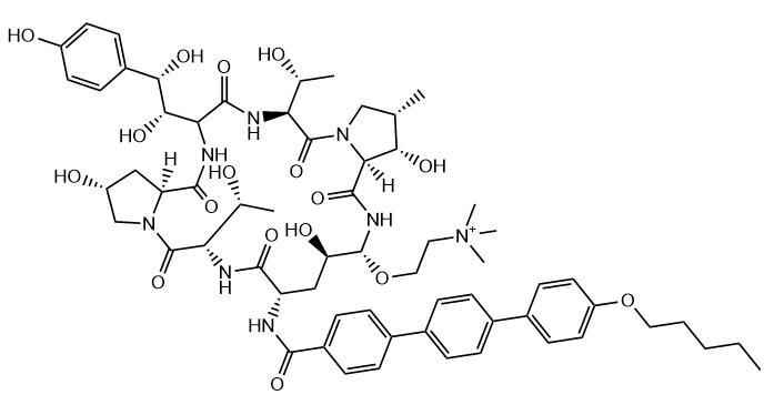 Rezafungin Chemical Structure