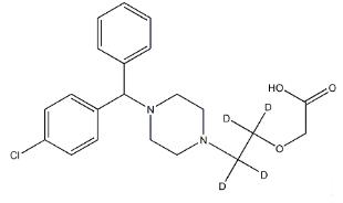 Cetirizine-d4 Chemical Structure