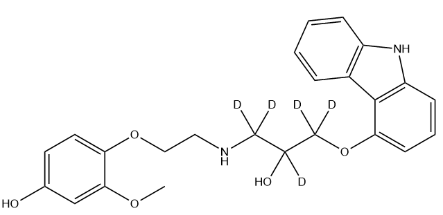 4-Hydroxyphenyl Carvedilol D5 Chemical Structure