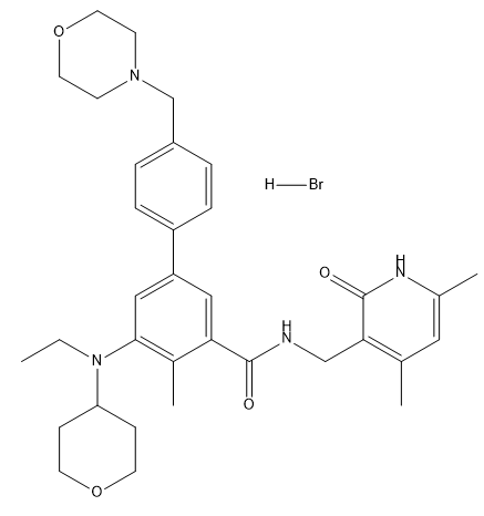 Tazemetostat hydrobromide Chemical Structure