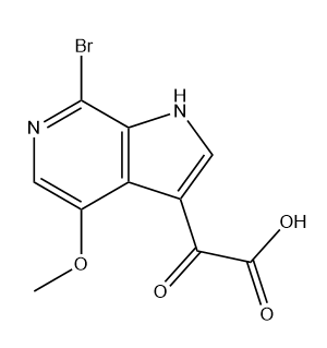 2-(7-Bromo-4-methoxy-1H-pyrrolo[2,3-c]pyridin-3-yl)-2-oxoacetic acid Chemical Structure