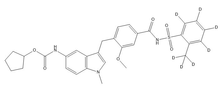 Zafirlukast-[d7] 结构式