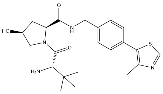 (S,S,S)-AHPC 结构式