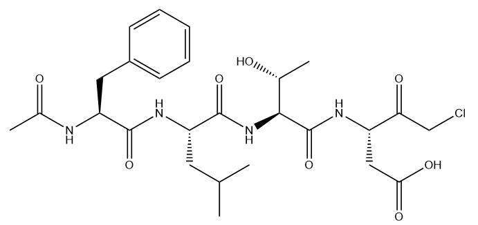 Ac-FLTD-CMK 结构式