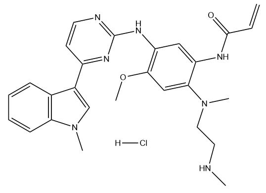AZ7550 hydrochloride 结构式