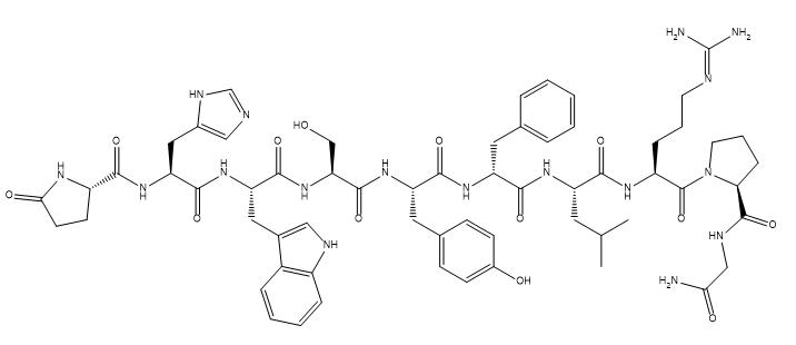 Gonadorelin[6-D-Phe] 结构式