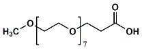 MPEG7-CH2CH2COOH Chemical Structure
