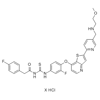 Glesatinib hydrochloride Chemical Structure