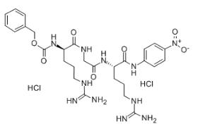 Z-D-Arg-Gly-Arg-pNA   2 HCl Chemical Structure