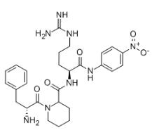 D-PHE-PIP-ARG-PNA Chemical Structure
