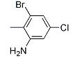 3-Bromo-5-chloro-2-methylaniline Chemical Structure