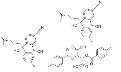 Citadiol hemi-bis-4-toluoyl-D-tartrate, (S)- Chemical Structure