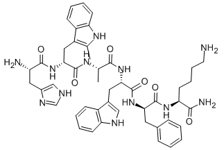 Hexarelin Acetate Chemical Structure