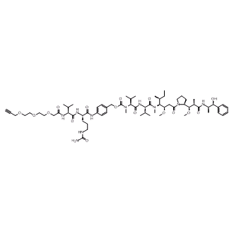 Acetylene-linker-Val-Cit-PABC-MMAE Chemical Structure