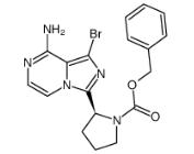 1-Pyrrolidinecarboxylic acid, 2-(8-amino-1-bromoimidazo[1,5-a]pyrazin-3-yl)-, phenylmethyl ester, (2S)- Chemical Structure