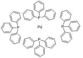 Tetrakis(triphenylphosphine) palladium(0) Chemical Structure
