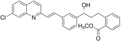 Montelukast (3R)-Hydroxy Benzoate Chemical Structure