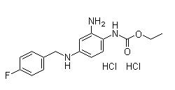 Retigabine Dihydrochloride Chemical Structure