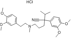 (+/-)-Verapamil hydrochloride Chemical Structure