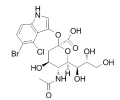 2-O-(5-broMo-4-chloroindol-3-yl)sialic acid Chemical Structure