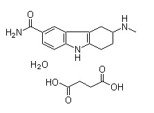 Frovatriptan succinate hydrate Chemical Structure