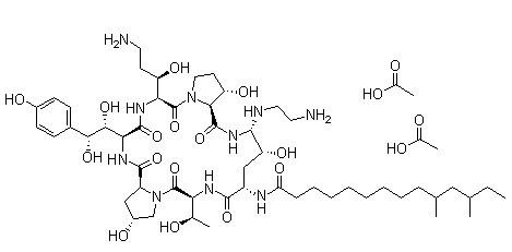 Caspofungin acetate Chemical Structure