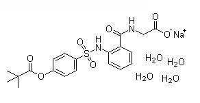 Sivelestat sodium tetrahydrate Chemical Structure