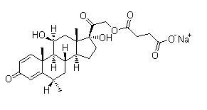 6alpha-Methylprednisolone sodium succinate Chemical Structure