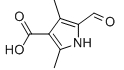 5-Formyl-2,4-dimethyl-1H-pyrrole-3-carboxylic acid Chemical Structure