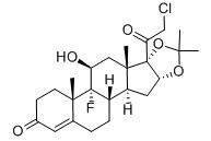 Halcinonide 结构式
