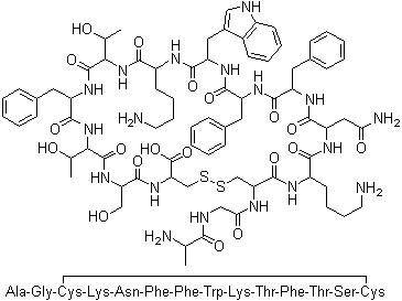 Somatostatin Acetate Chemical Structure