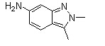 2,3-Dimethyl-6-amino-2H-indazole Chemical Structure