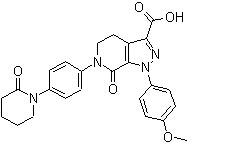 Apixaban Acid-13C,D3 Chemical Structure