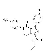 6-(4-Aminophenyl)-1-(4-methoxyphenyl)-7-oxo-4,5,6,7-tetrahydro-1H-pyrazolo[3,4-c]pyridine-3-carboxylic acid ethyl ester Chemical Structure