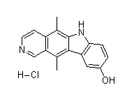 9-Hydroxyellipticine Hydrochloride Chemical Structure