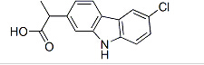 (+/-)-6-chloro-alpha-methylcarbazole-2-acetic acid Chemical Structure