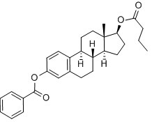Estradiol-3-benzoate-17-butyrate Chemical Structure