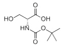 Boc-D-Serine Chemical Structure