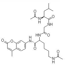 Ac-Leu-Gly-Lys (Ac)-AMC Chemical Structure
