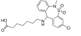 Tianeptine Chemical Structure