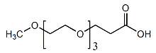 MPEG3-CH2CH2COOH Chemical Structure
